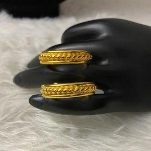 Solid Gold Designer Hoops